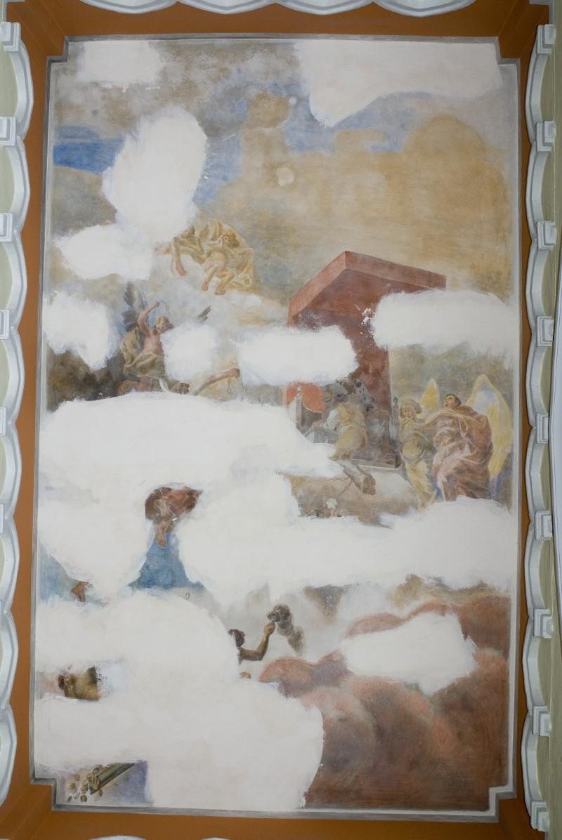 Melle G. (1955), Dipinto murale di angeli