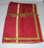 Manifattura romana sec. XIX, Conopeo rosso laminato