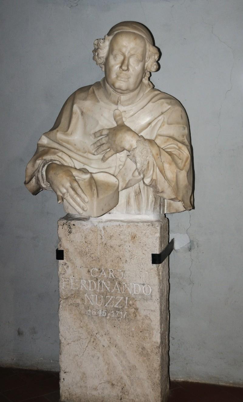 Marmoraio romano sec. XVIII, Scultura con cardinal Ferdinando Nuzzi