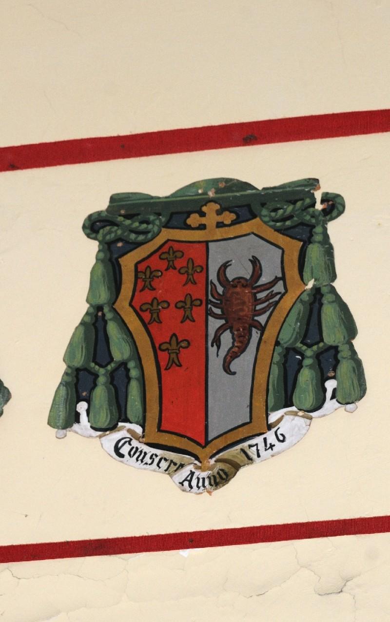 Ambito laziale sec. XX, Dipinto con stemma del vescovo Silvestri