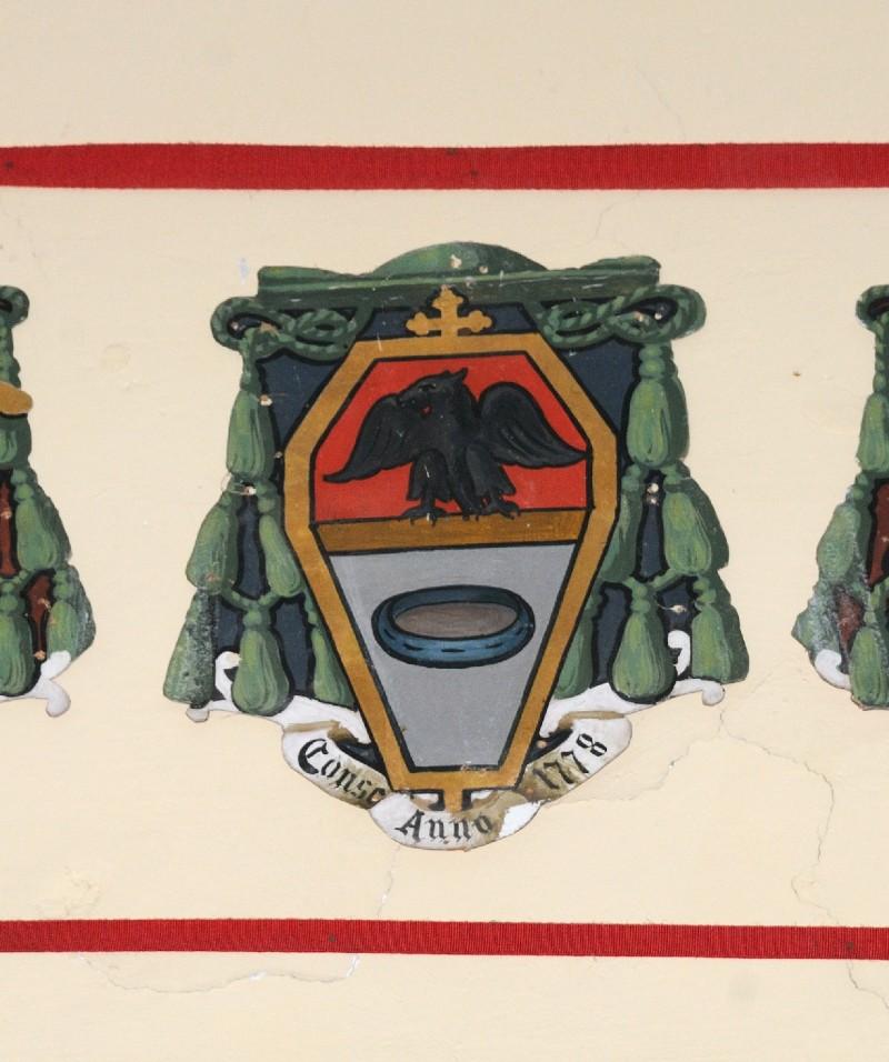 Ambito laziale sec. XX, Dipinto con stemma del vescovo Crivelli