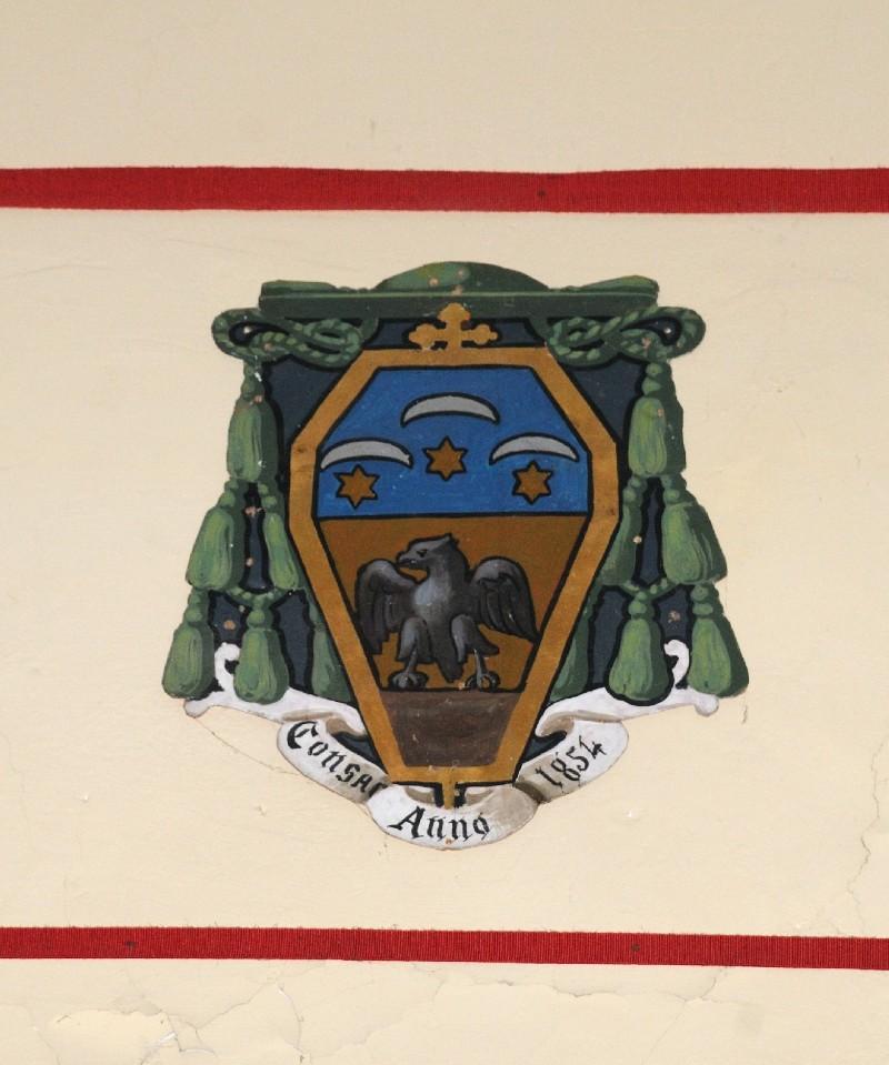 Ambito laziale sec. XX, Dipinto con stemma del vescovo Mengacci