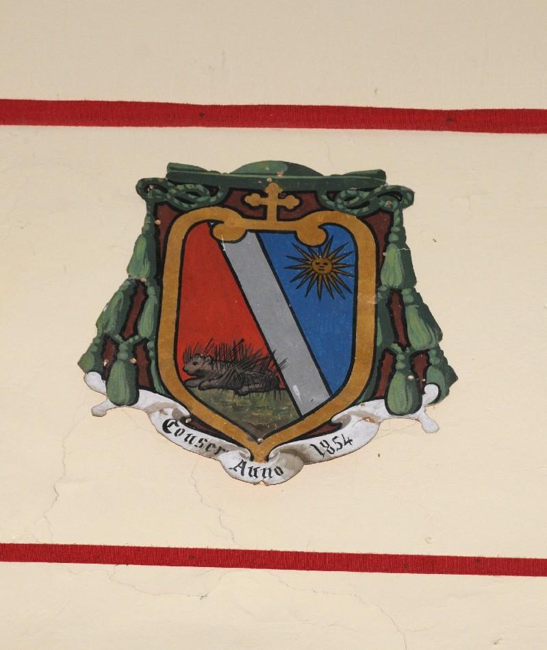 Ambito laziale sec. XX, Dipinto con stemma di Monsignor Mengacci