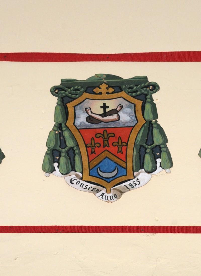 Ambito laziale sec. XX, Dipinto con stemma del vescovo Signani