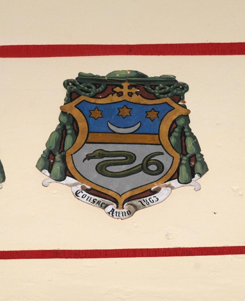 Ambito laziale sec. XX, Dipinto con stemma del vescovo Manetti