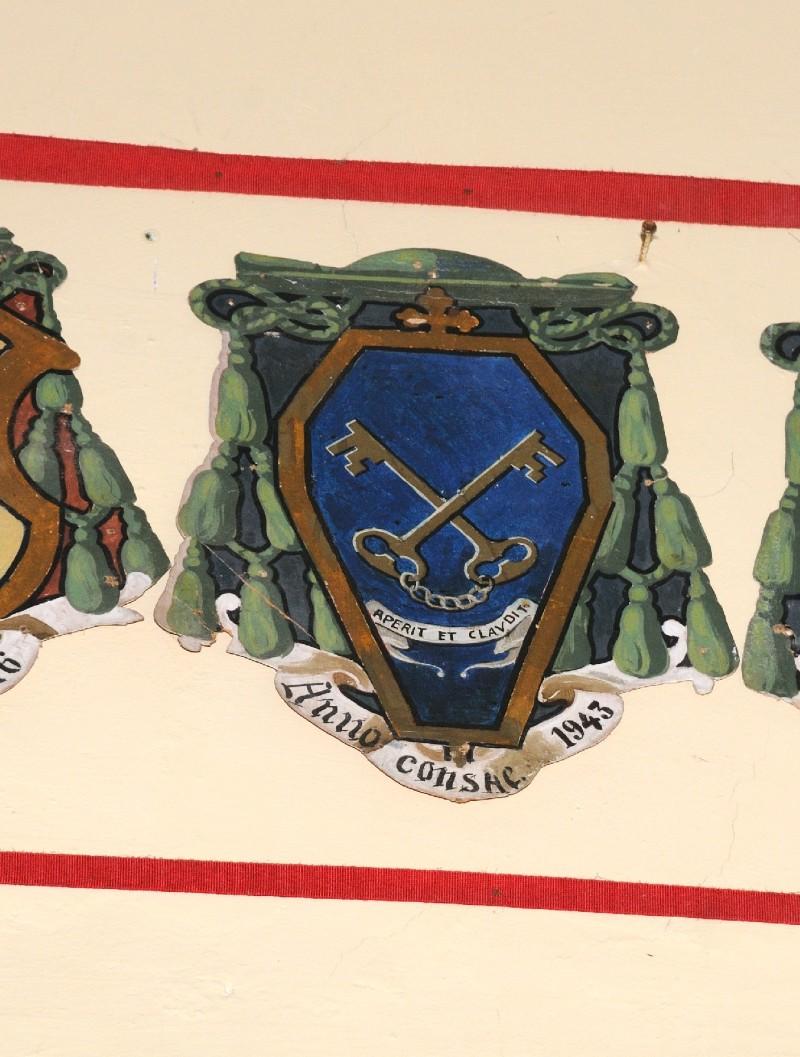 Ambito laziale sec. XX, Dipinto con stemma del vescovo Gori