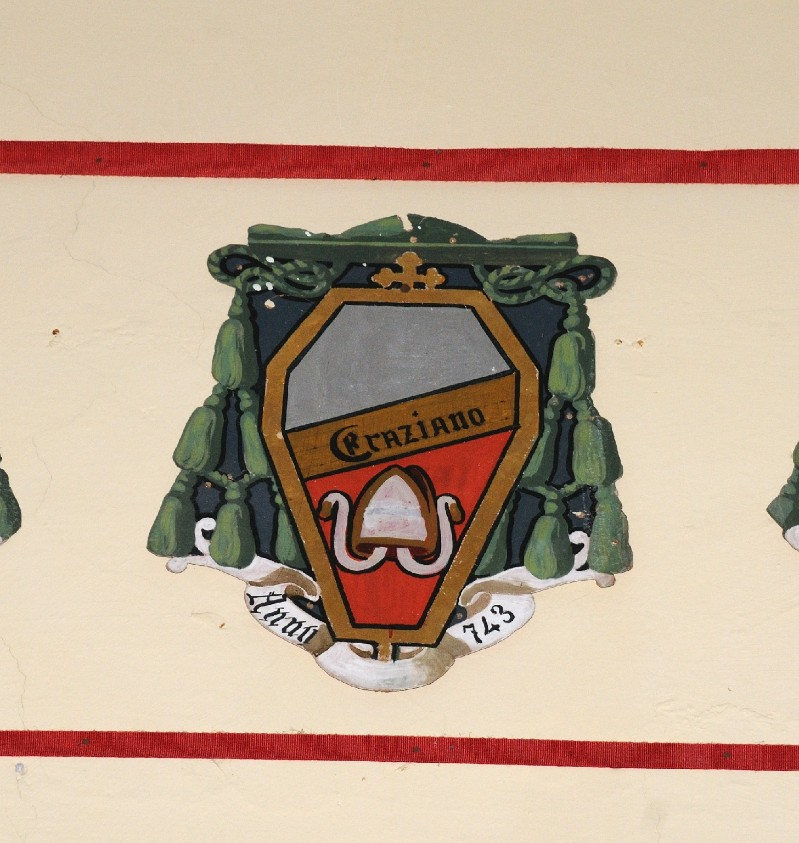 Ambito laziale sec. XX, Dipinto con stemma del vescovo Grazioso II