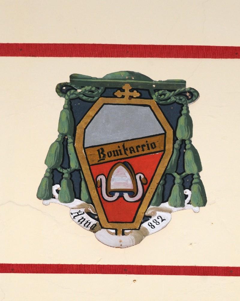 Ambito laziale sec. XX, Dipinto con stemma del vescovo Bonifaccio