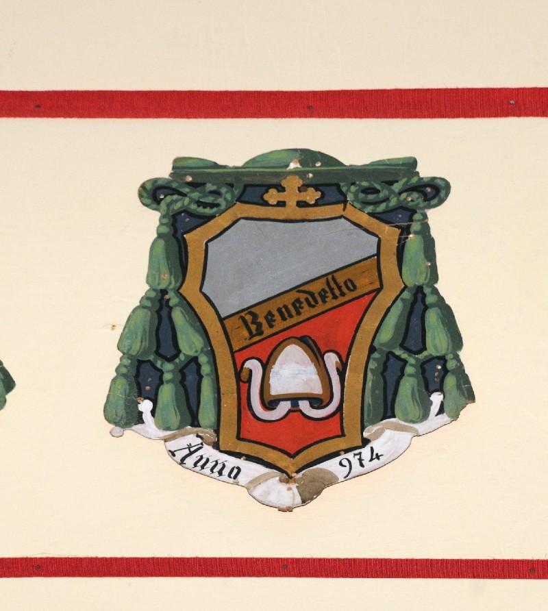 Ambito laziale sec. XX, Dipinto con stemma del vescovo Benedetto dei Tuscoli