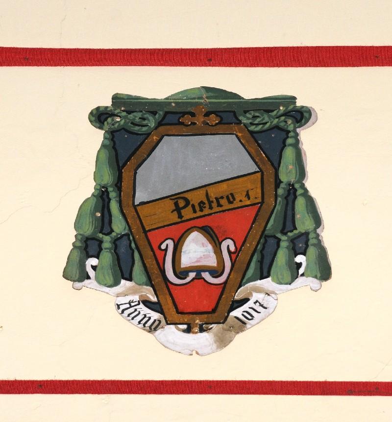Ambito laziale sec. XX, Dipinto con stemma del vescovo Pietro I