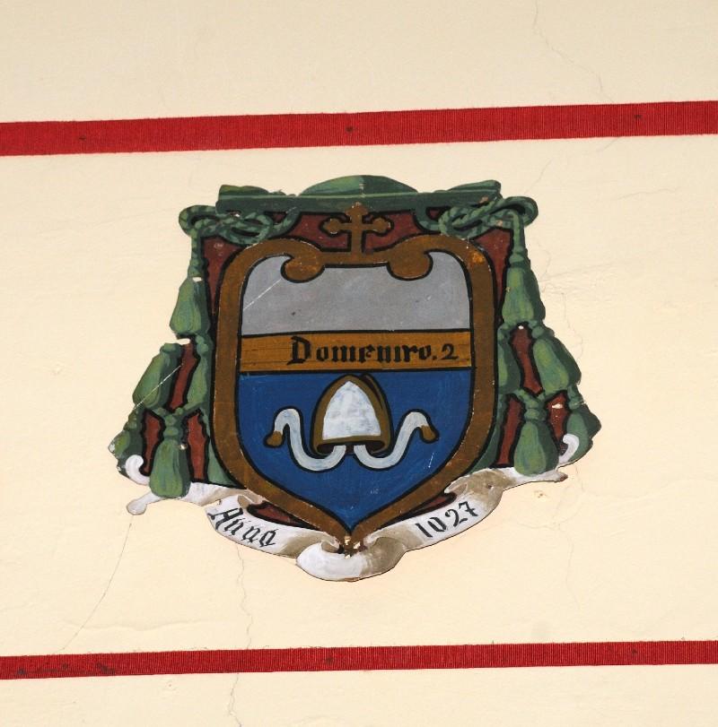 Ambito laziale sec. XX, Dipinto con stemma del vescovo Domenico II