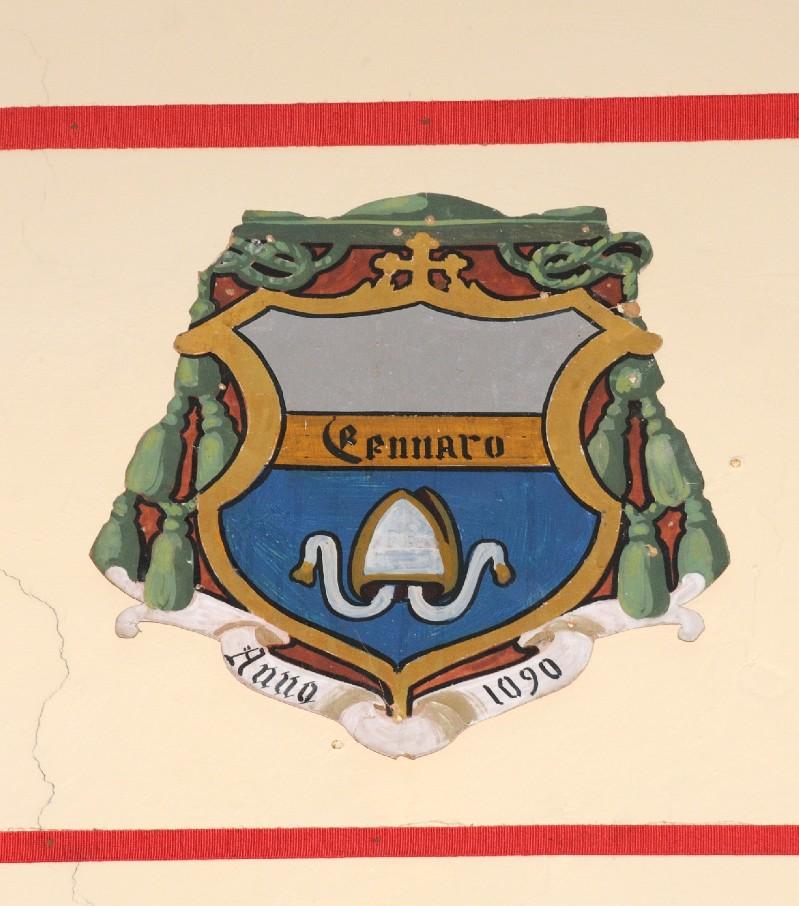 Ambito laziale sec. XX, Dipinto con stemma del vescovo Gennaro