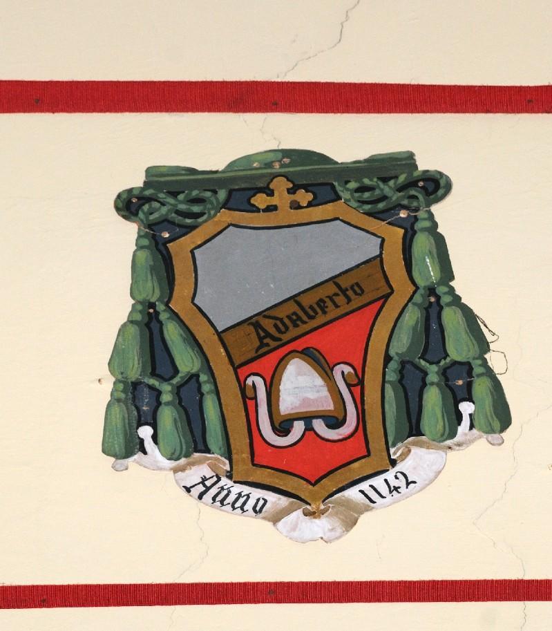 Ambito laziale sec. XX, Dipinto con stemma del vescovo Adalberto