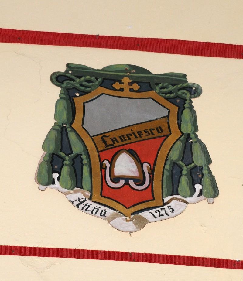 Ambito laziale sec. XX, Dipinto con stemma del vescovo Francesco