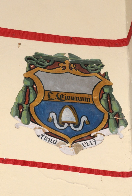 Ambito laziale sec. XX, Dipinto con stemma del vescovo Giovanni di Amelia