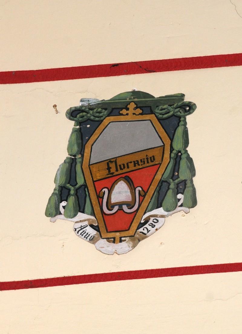 Ambito laziale sec. XX, Dipinto con stemma del vescovo Florasio