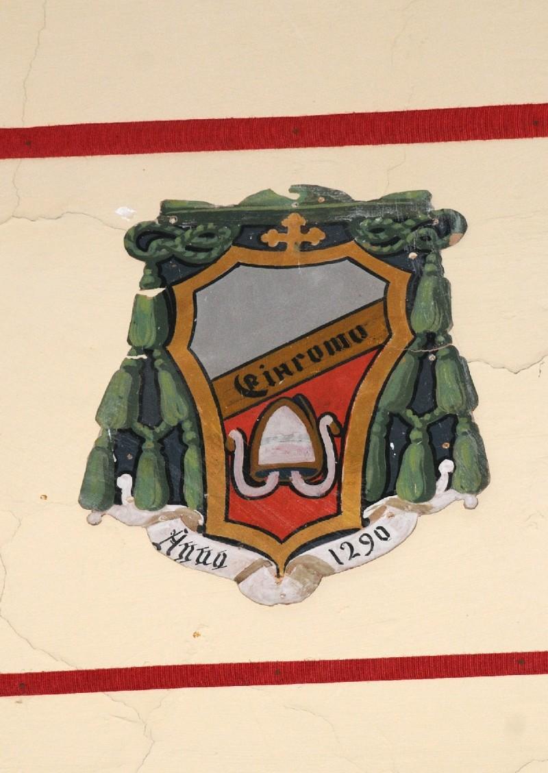 Ambito laziale sec. XX, Dipinto con stemma del vescovo Giacomo