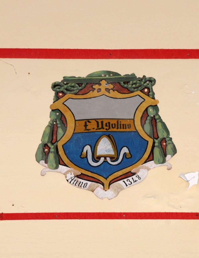 Ambito laziale sec. XX, Dipinto con stemma del vescovo Ugolino di Pietralunga