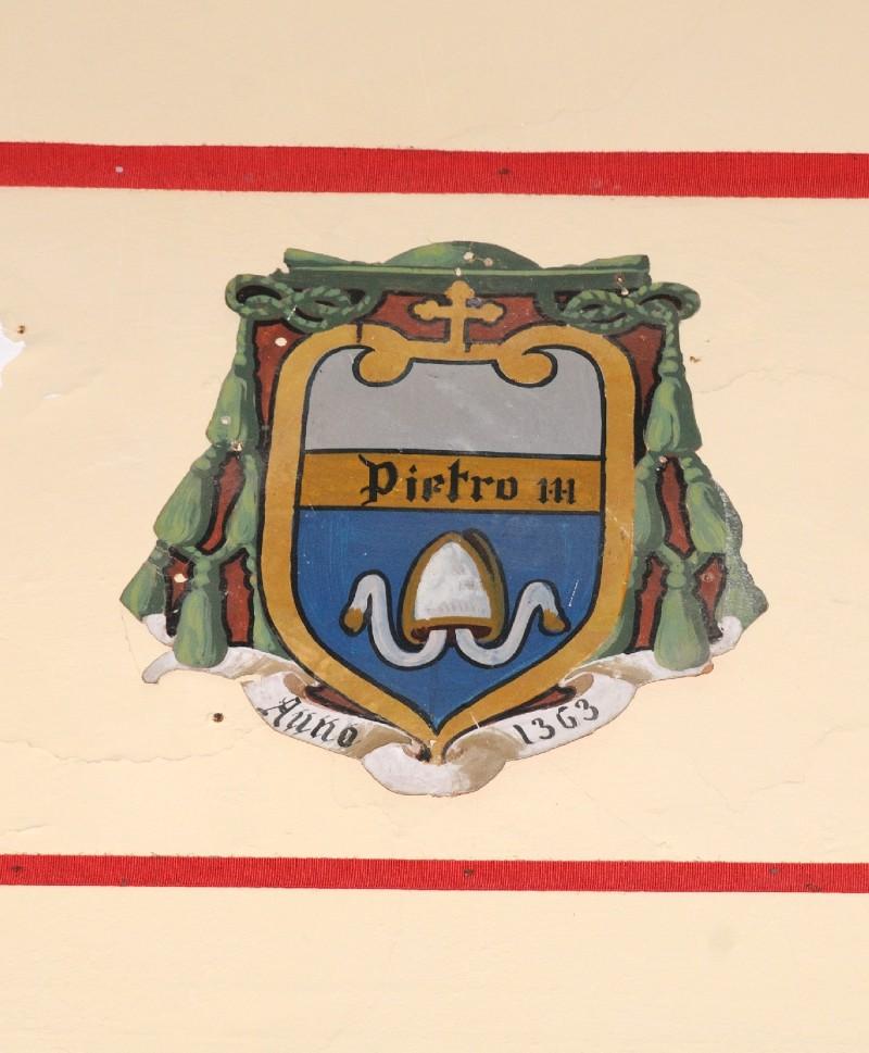 Ambito laziale sec. XX, Dipinto con stemma del vescovo Pietro III