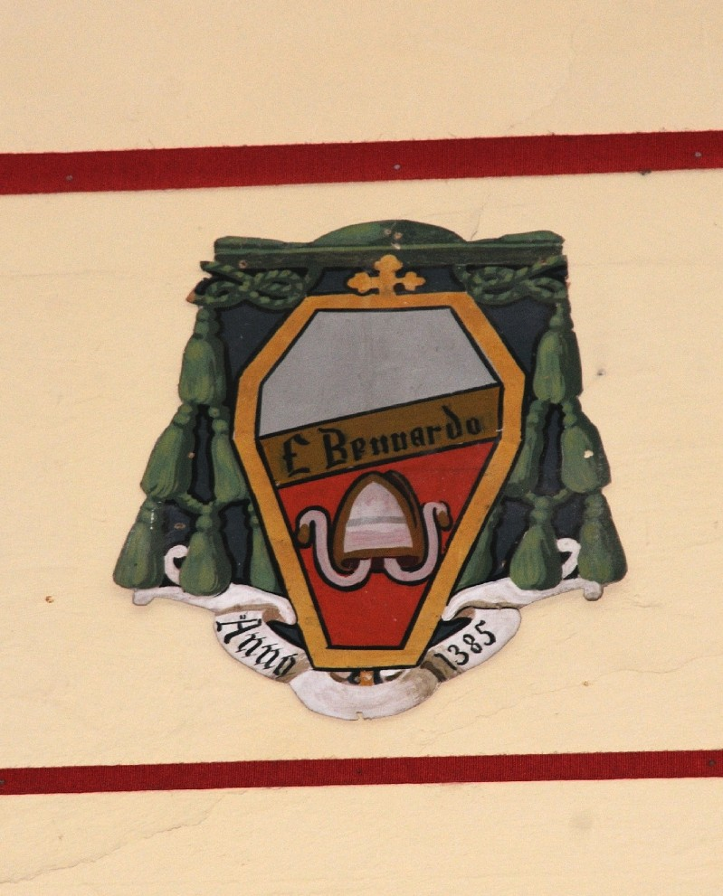 Ambito laziale sec. XX, Dipinto con stemma del vescovo Fra Bernardo I