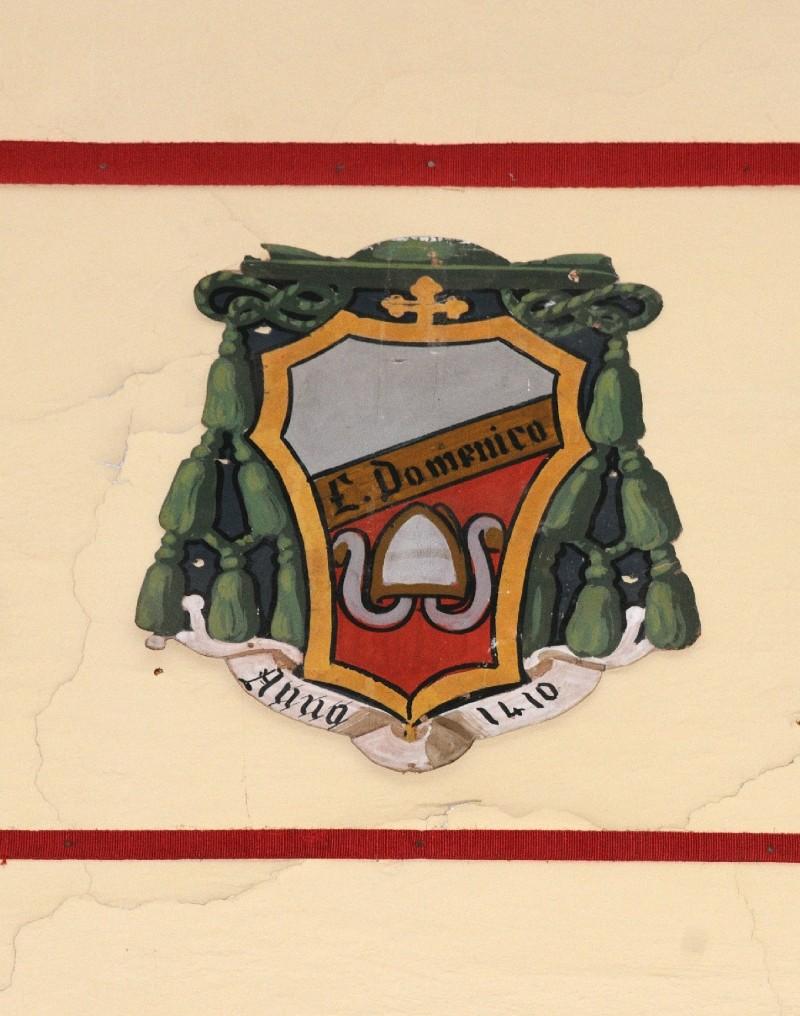 Ambito laziale sec. XX, Dipinto con stemma del vescovo Domenico D'Anglona