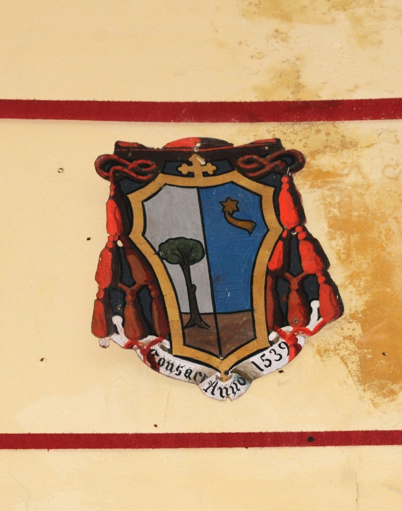 Ambito laziale sec. XX, Dipinto con stemma del vescovo Cesi