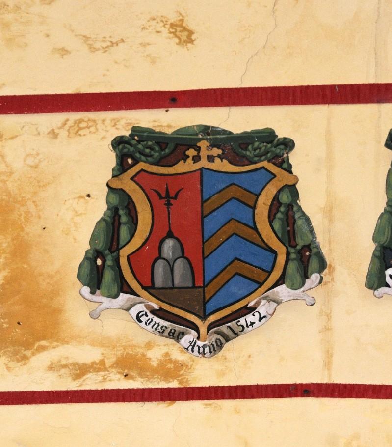Ambito laziale sec. XX, Dipinto con stemma del vescovo De Angelis