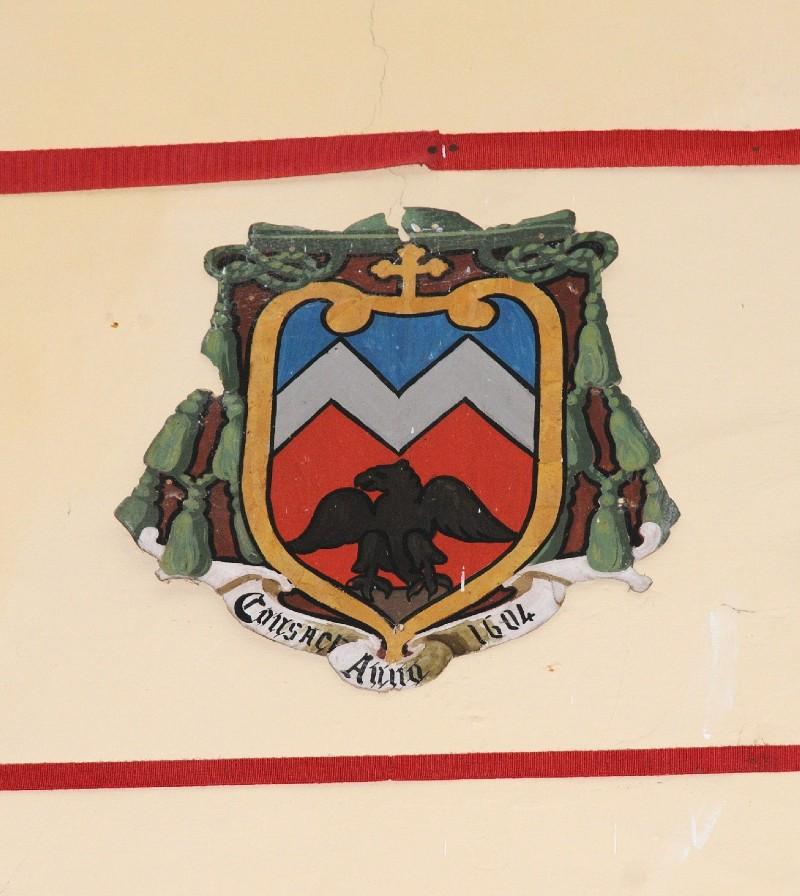 Ambito laziale sec. XX, Dipinto con stemma del vescovo Sarti