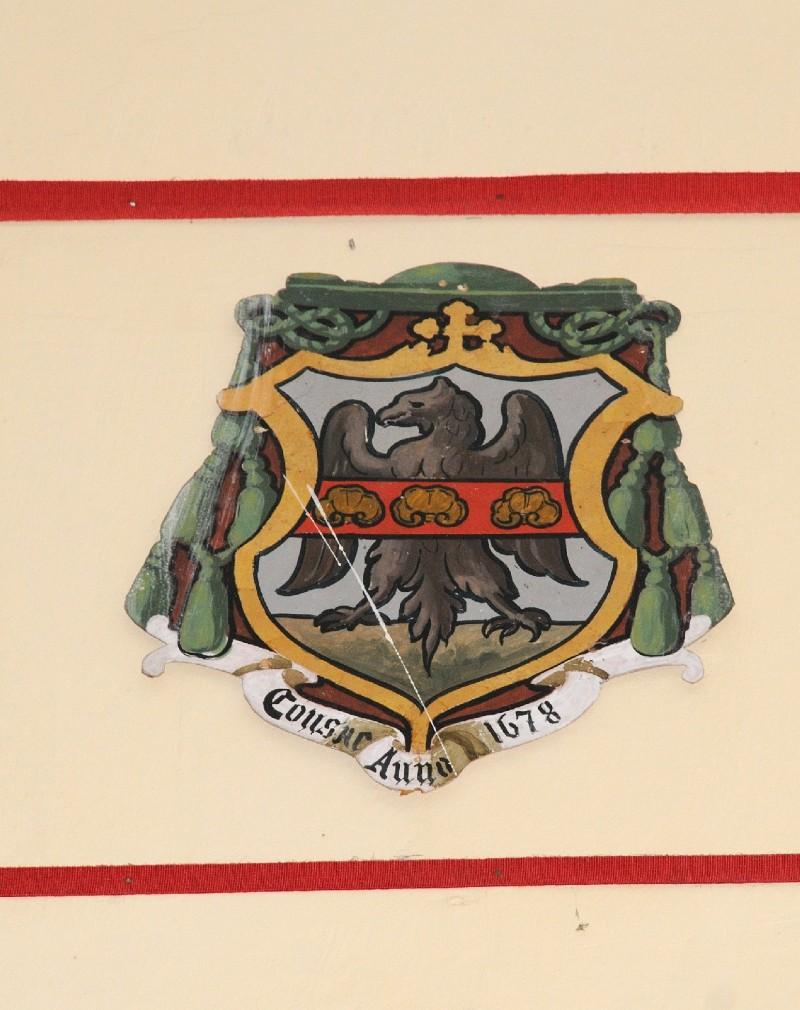 Ambito laziale sec. XX, Dipinto con stemma del vescovo Buoni