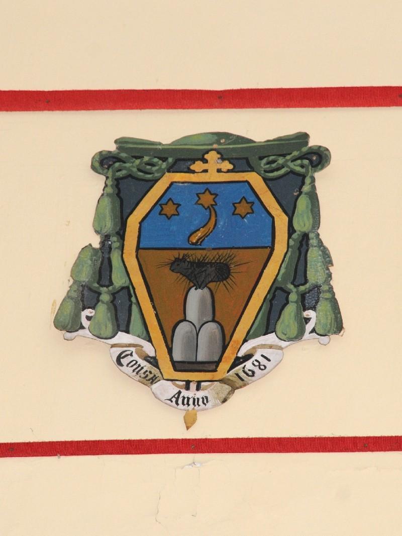 Ambito laziale sec. XX, Dipinto con stemma del vescovo Ricciardi