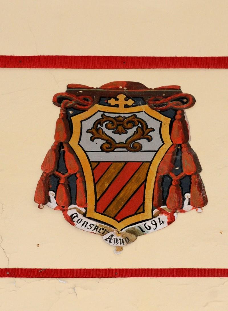 Ambito laziale sec. XX, Dipinto con stemma del vescovo Millini