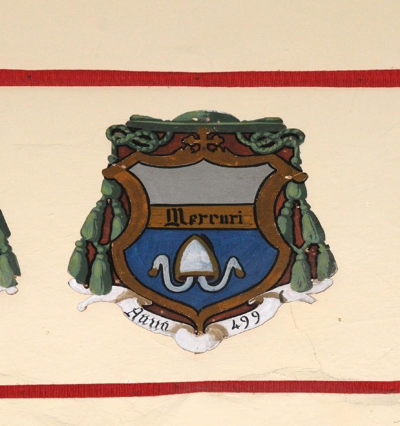 Ambito laziale sec. XX, Dipinto con stemma del vescovo Mercuri
