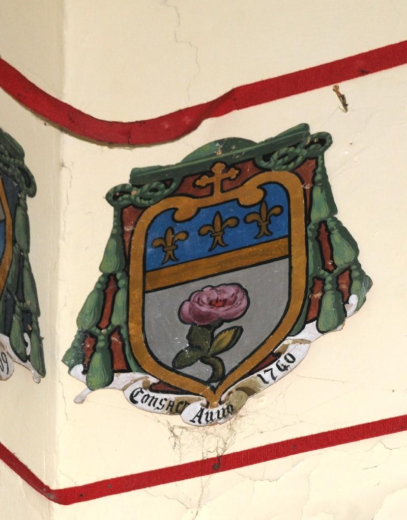 Ambito laziale sec. XX, Dipinto con stemma del vescovo Viviani
