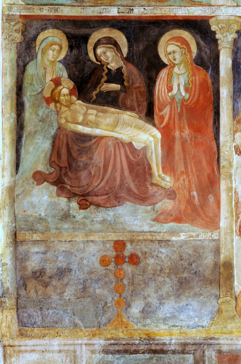 Scuola laziale sec. XV, Compianto su Cristo morto
