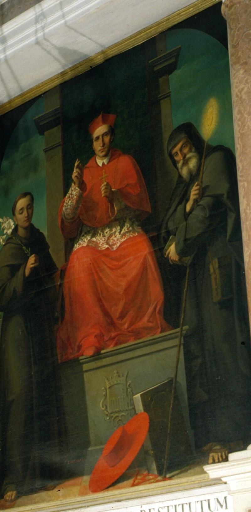 Aguiari T. (1857), San Carlo Borromeo tra i Santi Antonio e Francesco di Paola
