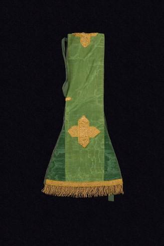 Manif. veneziana sec. XVII, Manipolo in taffetas verde marezzato 1/2