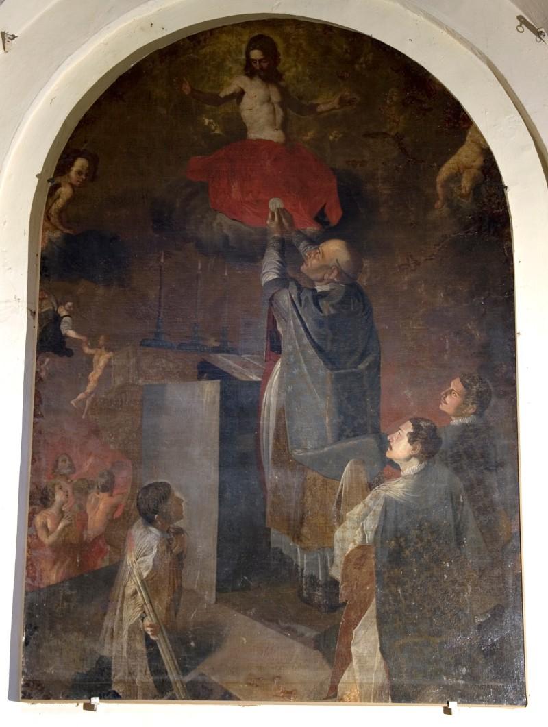 Ambito fiammingo sec. XVII, Messa di San Gregorio