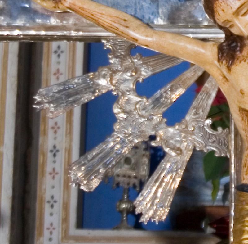 Manif. italiana secc. XVII-XVIII, Raggiera di croce 3/4