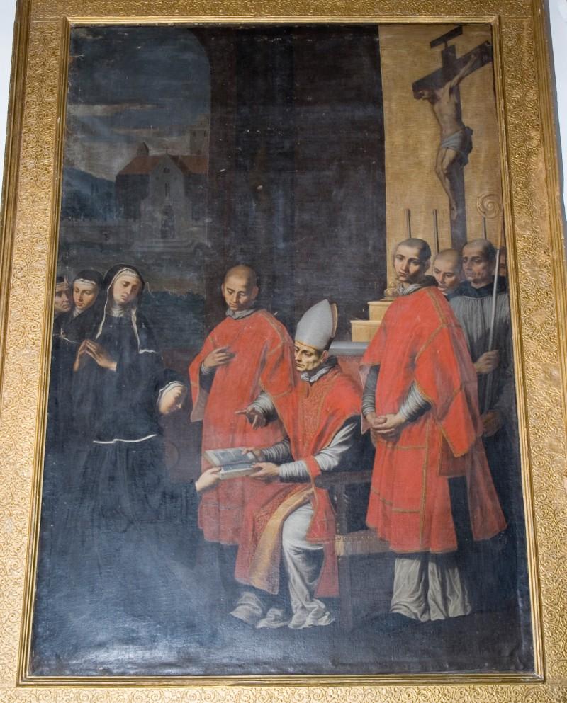 Ambito fiammingo (1635), San Benedetto consegna la regola a Santa Scolastica