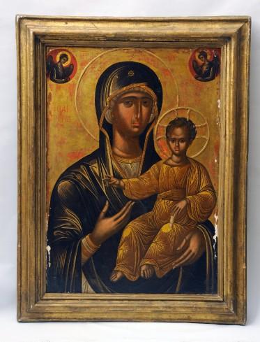 Basilio M. sec. XIV, Icona con la Madonna Via Lucis
