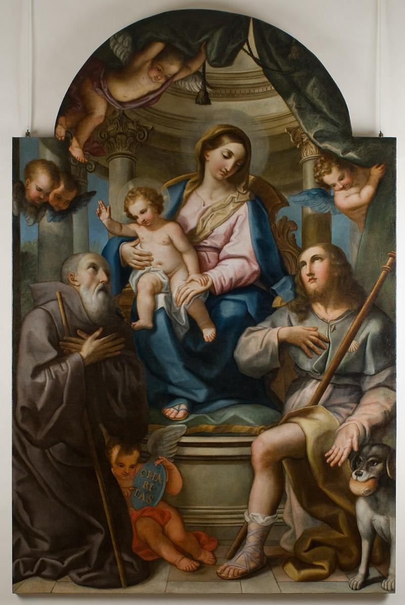 Campanella A. sec. XVIII, Madonna col Bambino e Santi
