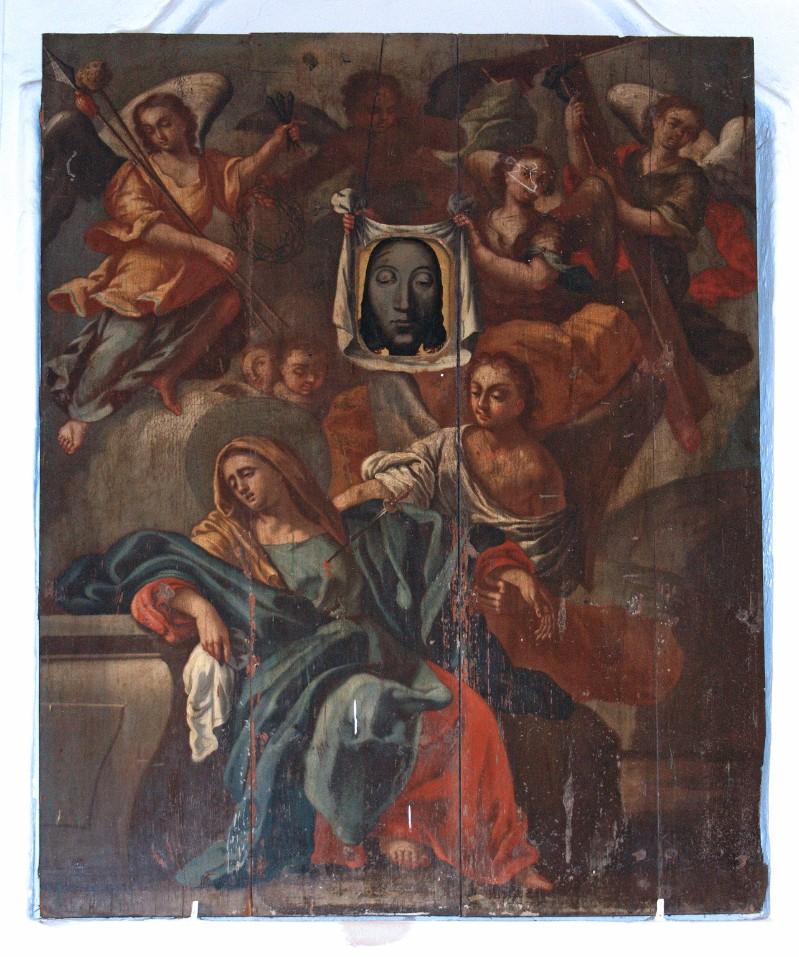 Ambito calabrese sec. XVIII, Madonna Addolorata con i simboli della passione