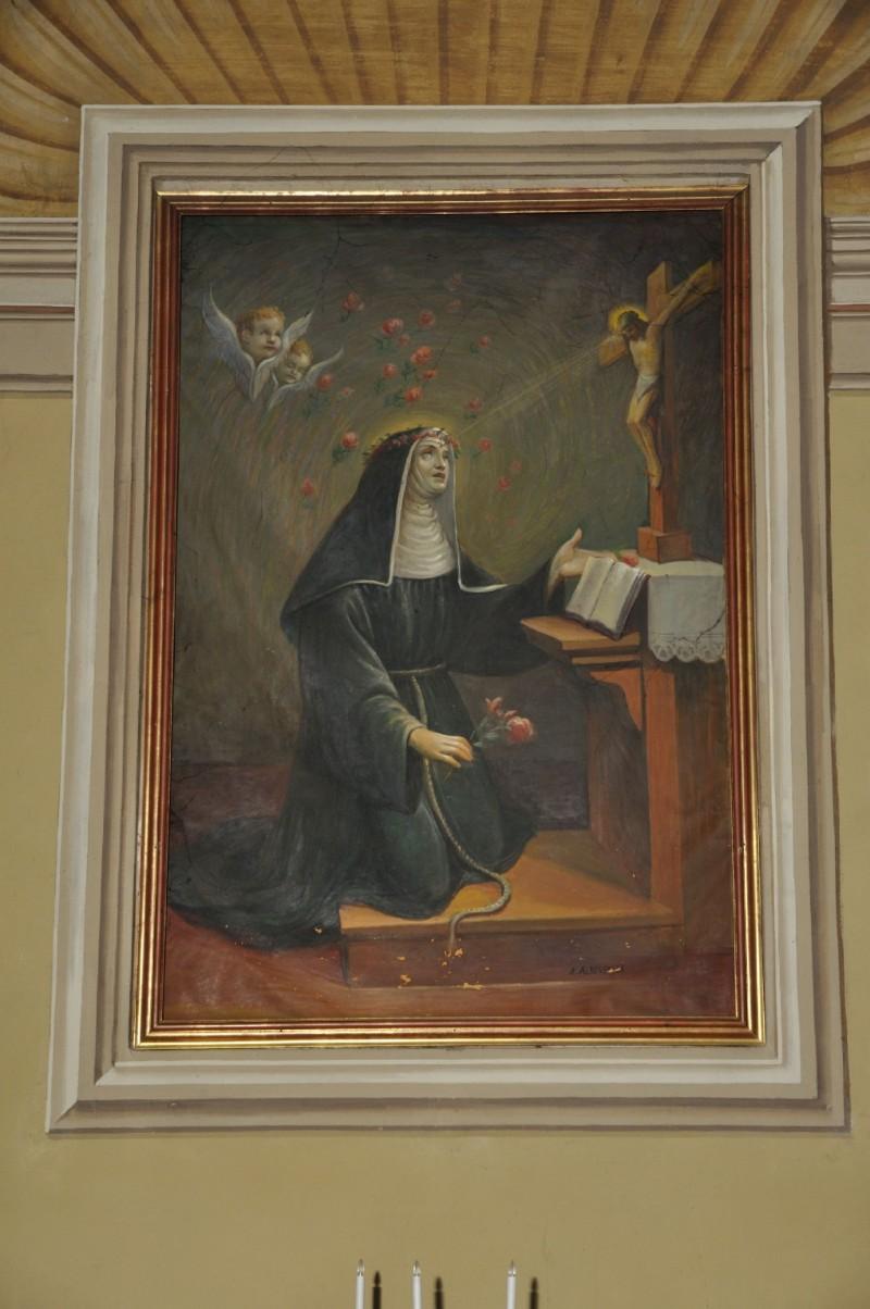 Albertella A. ultimo quarto sec. XIX, Dipinto con S. Rita da Cascia