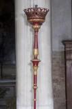 Bottega veneta sec. XIX, Candelabro processionale rosso 2/4
