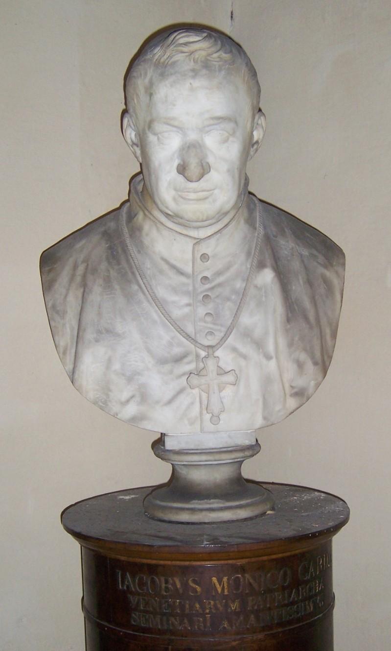 Ambito italiano sec. XIX, Busto del Patriarca Cardinale Jacopo Monico