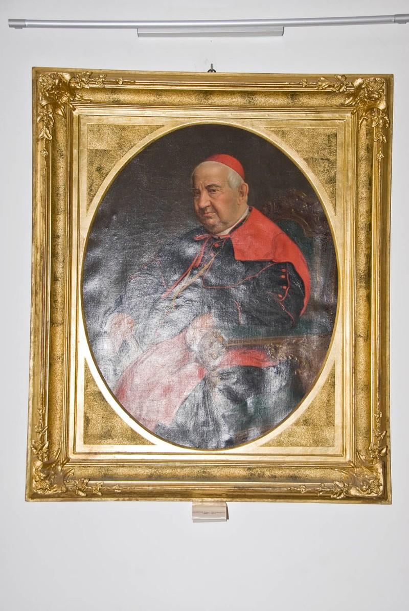 Bottega veneta sec. XIX, Cornice rettangolare per ritratto di patriarca