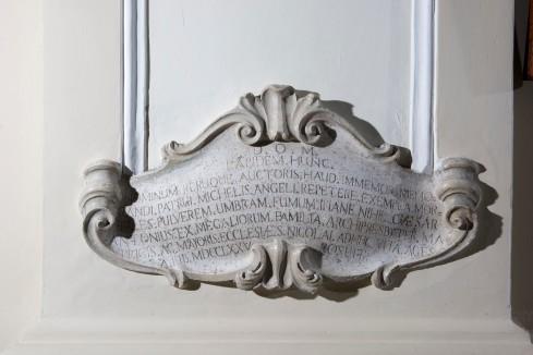 Bott. napoletana (1775), Cartiglio