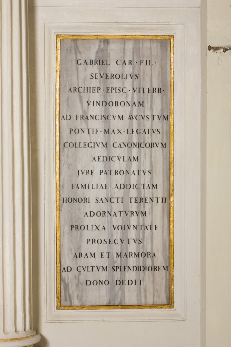 Bottega romagnola (1810), Lapide di Gabriele Severoli