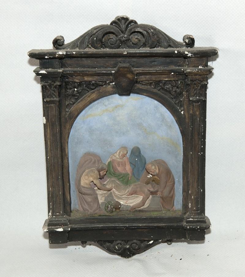 Ambito italiano sec. XX, Via Crucis di Gesù deposto nel sepolcro