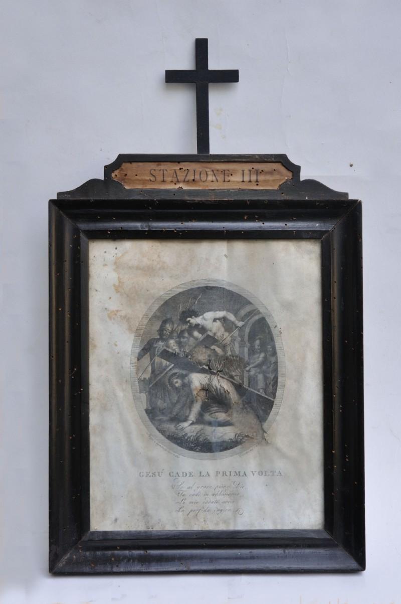 Agricola L. - Petrini G. seconda metà sec. XVIII, Cristo cade la prima volta